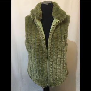 Jackets & Blazers - Lime Green reversible vest Sz 10/12